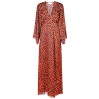 Michelle Mason Vestido Longo De Seda - Vermelho