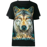 Wendy Jim Loose-Fit Wolf T-Shirt - Preto