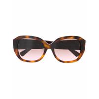 Valentino Eyewear Óculos De Sol Oversized Va4079 - Marrom