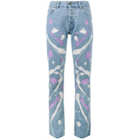 Mirco Gaspari Calça Jeans Estampada - Azul