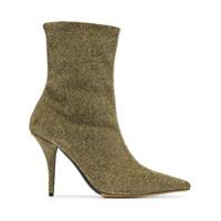 Tabitha Simmons Ankle Boot 'eldon 95' Com Lurex - Dourado