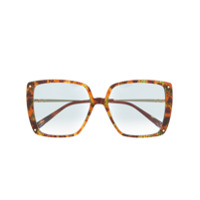 Missoni Eyewear Óculos De Sol Oversized Com Estampa Abstrata - Marrom