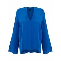 Osklen Camisa Classy De Seda - Azul