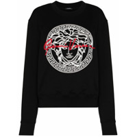 Versace Moletom Medusa Com Logo - Preto