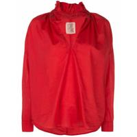 A Shirt Thing Camisa Com Fenda Na Gola - Vermelho