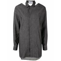 Facetasm Camisa Com Abertura Posterior - Preto