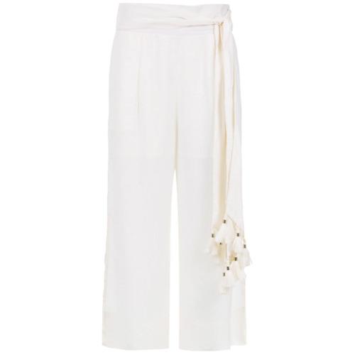 Le Lis Blanc Calça pantacourt de linho - Branco