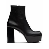 Prada Ankle Boot Com Plataforma - Preto
