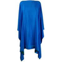 Gianluca Capannolo Vestido Eve De Seda - Azul