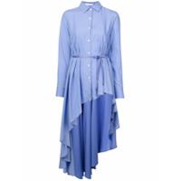 Palmer / Harding Camisa Assimétrica Com Botões - Azul