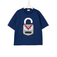 Fendi Kids Camiseta com estampa 'Emoji' - Azul