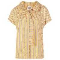 A Shirt Thing Camisa Com Estampa De Listras - Amarelo