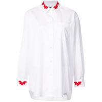 Simone Rocha Camisa Com Contraste - Branco