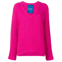 Simon Miller V-Neck Knitted Sweater - Rosa