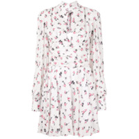 Brognano Vestido Mini Com Estampa Floral - Branco