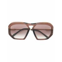 Celine Eyewear Óculos De Sol Quadrado - Marrom