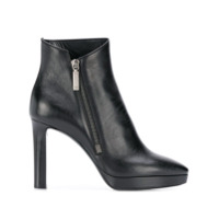 Saint Laurent Ankle Boot Com Zíper - Preto