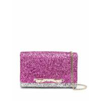 Red(V) Glitter-Embellished Clutch Bag - Rosa