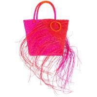 Sensi Studio Bolsa Tote Bicolor Com Puído - Rosa