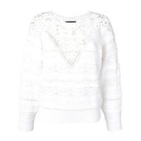 Isabel Marant Suéter Bordado - Branco