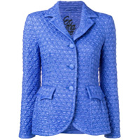 Ermanno Scervino Quilted Single-Breasted Blazer - Azul