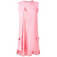 Courrèges Vestido Com Fenda Mini - Rosa