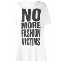 Katharine Hamnett London Camiseta Com Estampa No More Fashion Victims - Branco