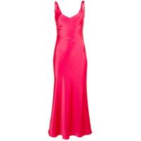 Blanca Vestido Drapeado - Vermelho