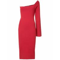 Solace London Vestido Assimétrico - Vermelho