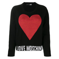 Love Moschino Moletom Com Patch - Preto