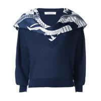Cédric Charlier Suéter Com Aplicações - Azul