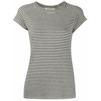 Nili Lotan Stripe Print T-Shirt - Cinza
