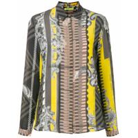 Versace Jeans Camisa Com Estampa De Seda - Amarelo
