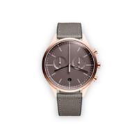 Uniform Wares Relógio 'c39 Chronograph' De Couro E Aço Inoxidável - Cinza