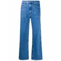 Helmut Lang Calça Jeans Cropped Factory - Azul