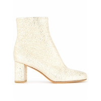 Maryam Nassir Zadeh Ankle Boot 'agnes' De Couro - Metálico