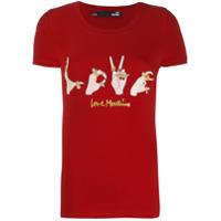 Love Moschino Camiseta Love - Vermelho