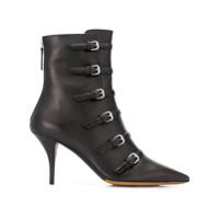 Tabitha Simmons Ankle Boot 'dash' De Couro Com Fivelas - Preto