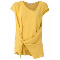 Mara Mac Blusa Drapeada Com Amarração - Amarelo
