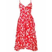 Athena Procopiou Vestido Midi 'farah' Floral - Vermelho