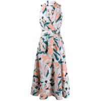 Tory Burch Vestido Midi Com Estampa Floral - Rosa