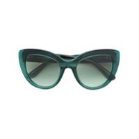 Dolce & Gabbana Eyewear Óculos De Sol De Armação Gatinho - Green