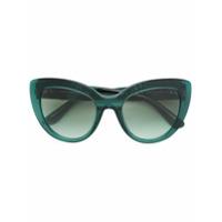 Dolce & Gabbana Eyewear Óculos De Sol De Armação Gatinho - Verde