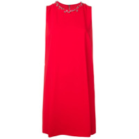Boutique Moschino Vestido Com Piercing Na Gola Mini - Vermelho