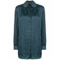 Miaoran Camisa Mangas Longas - Azul