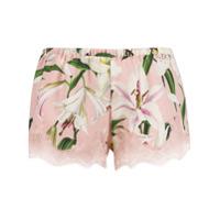 Dolce & Gabbana Underwear Short Com Estampa Floral - Rosa
