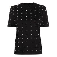 Amen Camiseta Com Aplicação De Esfera Perolada - Preto