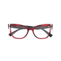 Valentino Eyewear Armação De Óculos Oval - Preto