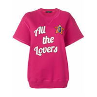 Dolce & Gabbana Blusa De Moletom Mangas Curtas ''all The Lovers' - Rosa