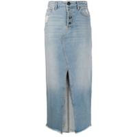Semicouture Saia Jeans Midi - Azul